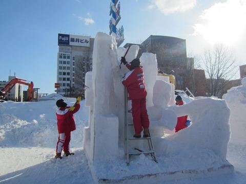 2e18dac9 s - 2013年 さっぽろ雪祭りPart3 ~雪像の作り方~