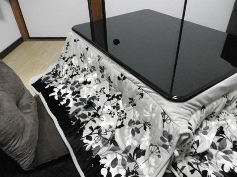 29fee22b s - 折りたたみ式の天板が平べったいタイプのコタツ購入
