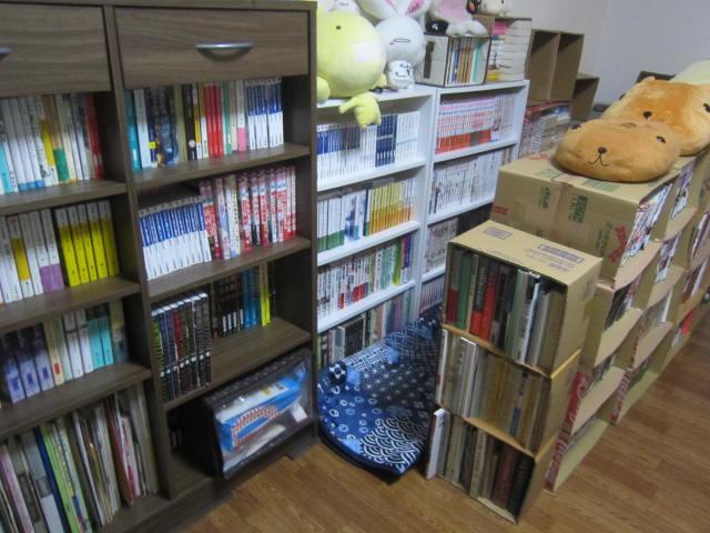 IMG 0001 - 引き出し付き木製ラックのビブリオ(448冊収納)とゆー本棚を購入して設置