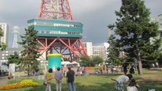 IMG 0025 320x180 - 大通のテレビ塔からダイブ出来るアトラクション設置中