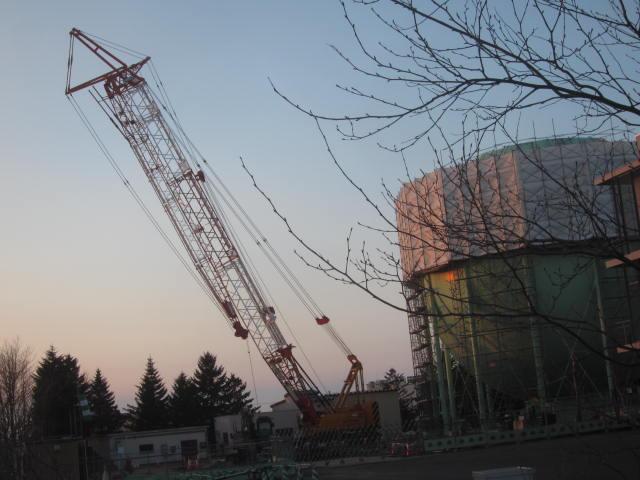 IMG 0059 - ガスタンクの整備作業やってました / 散歩中に見かけた風景