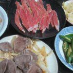 IMG 0073 150x150 - 豚タンとタマネギの炒め物にオクラと白菜漬けと生ハムで酒盛り