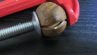 IMG 0107 320x180 - C型クランプで殻付きマカダミアナッツ割ってみた【ナッツPart02】