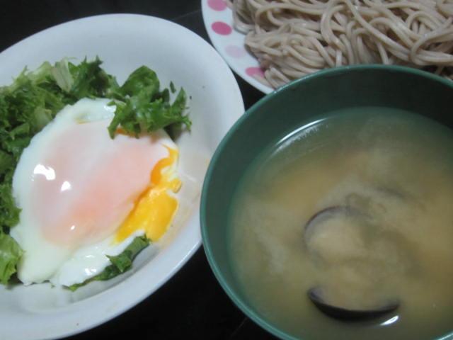 IMG 0036 - 蕎麦と味噌汁と目玉焼きなシンプル晩御飯