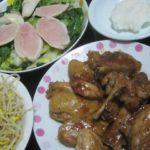 IMG 0046 1 150x150 - 鶏モモ肉の中華風炒めと鶏胸肉の生ハムサラダ