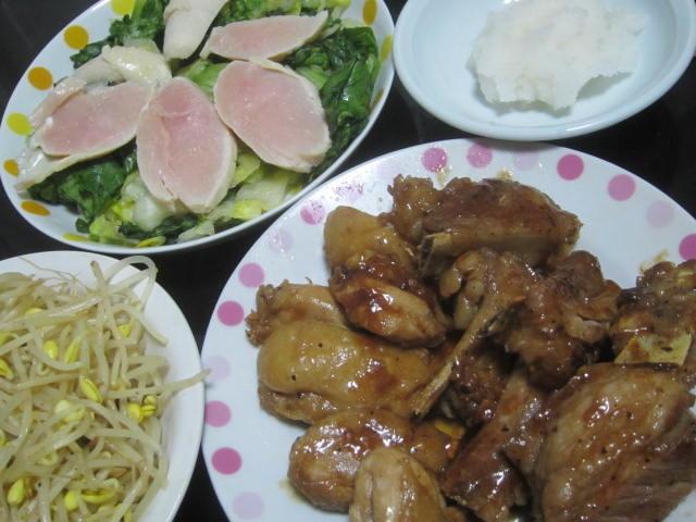 IMG 0046 1 - 鶏モモ肉の中華風炒めと鶏胸肉の生ハムサラダ