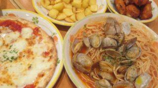 IMG 0049 320x180 - アサリのトマトソースなパスタと水牛モッツァレラなピザ
