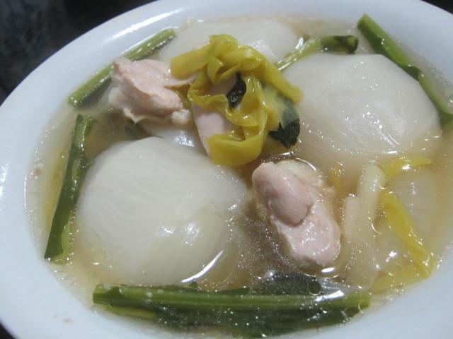 IMG 0050 - 白カブを鶏肉と一緒にコンソメ煮にしてみた
