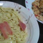 IMG 0083 150x150 - 豚タンとトマトを卵でいためた中華風な味付けの何かとカルボナーラ