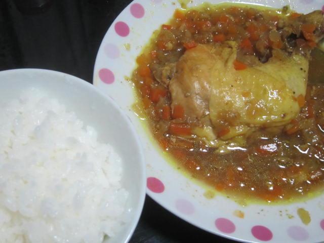 IMG 0094 - アメリカ産骨付き鶏モモ肉が安かったのでチキンカレー