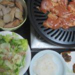 IMG 0002 150x150 - サトイモと手羽の煮物と梅ペーストを塗った鶏の焼肉