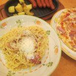 IMG 0004 150x150 - 久々に外食で頂くカルボナーラといつものパンチェッタのピザ