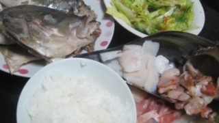IMG 0029 320x180 - シマアジとサザエとタイラギ貝のお刺身三種盛り