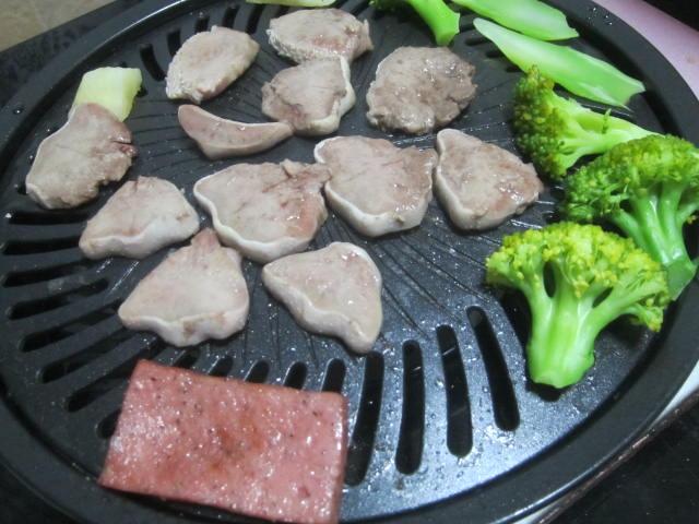 IMG 0034 - 合鴨のアスピックゼリー寄せと豚タン焼肉