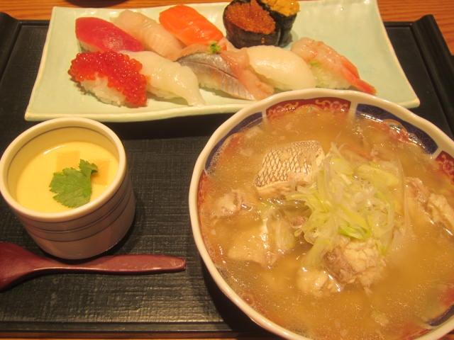 IMG 0057 - 回らない回転寿司な四季花まるでランチセット食べてみた