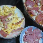 IMG 0069 1 150x150 - フライパンピザにハム載せて豚タンとタマゴととにかくたんぱく質祭り
