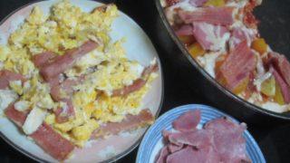 IMG 0069 1 320x180 - フライパンピザにハム載せて豚タンとタマゴととにかくたんぱく質祭り