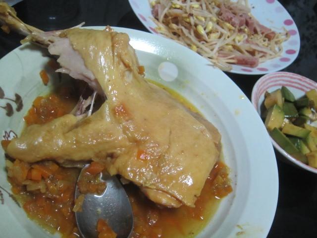 IMG 0072 - カレーに骨付き鶏モモ肉入れてとろっとろになるまで煮込んでみた
