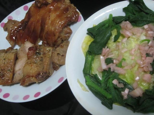 IMG 0093 - 鶏肉焼いたのとアイスプラントなサラダ