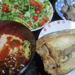 IMG 0096 150x150 - 鶏ハムを乗せた冷麺にホッケとサラダの昨日の残りのラム