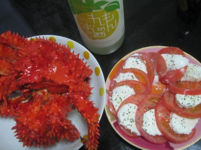 IMG 0129 - 花咲ガニとモッツァレラチーズとガザミ的な何かでシーフード飯