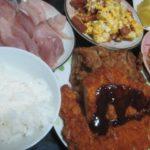IMG 0001 150x150 - ロースカツと鶏のカラアゲと今日もブリ&卵な食事