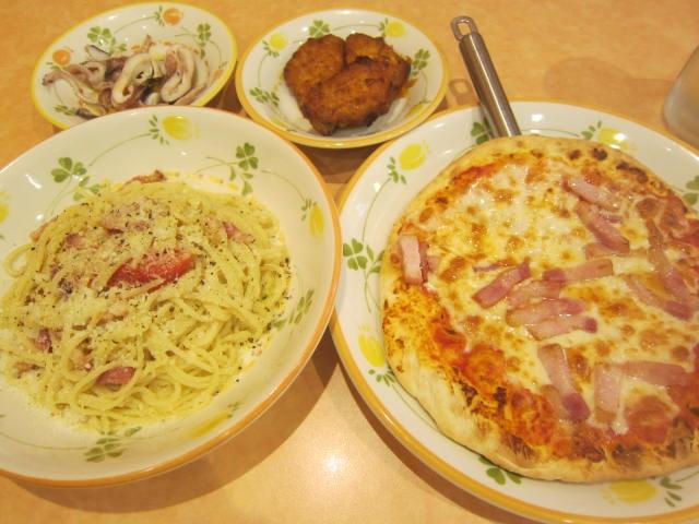 IMG 0020 - パンチェッタなピザとパンチェッタなパスタとイカとトリ