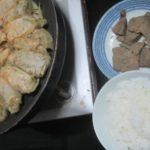 IMG 0037 150x150 - フライパンで焼き餃子して頂くお米と豚レバー