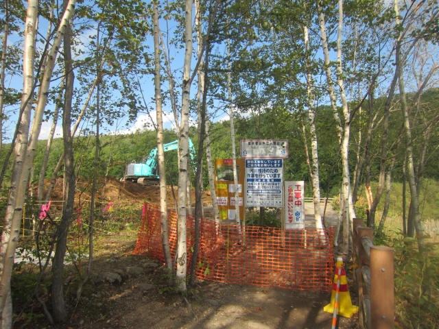 IMG 0097 - 美瑛の青い池がそこかしこ工事されて整備されてました
