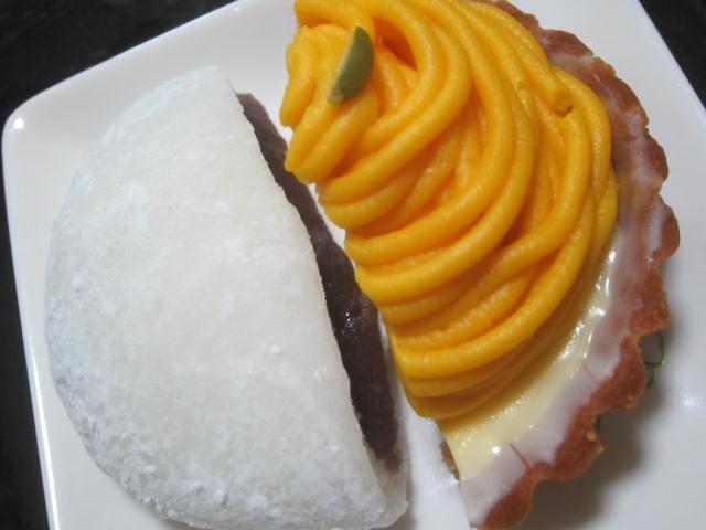 IMG 0130 - パンプキンなモンブラン的なタルトと大福餅