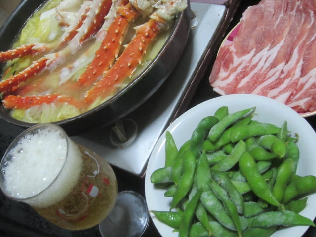 IMG 0149 - タラバ蟹が珍しく半額売りしてたので今日は蟹鍋です