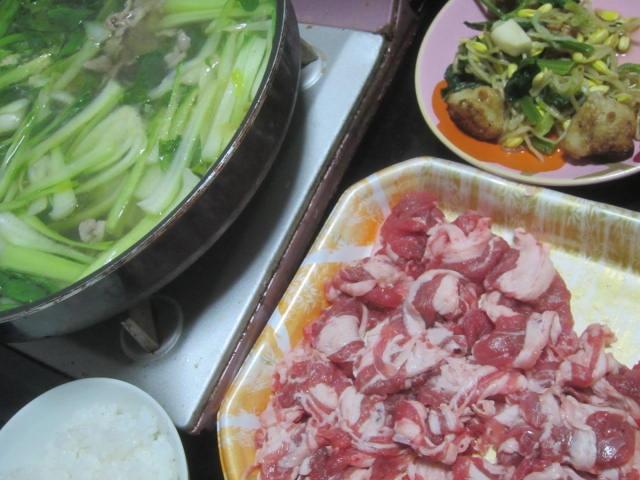 IMG 0047 - チンゲンサイたっぷりの鍋でラムしゃぶ