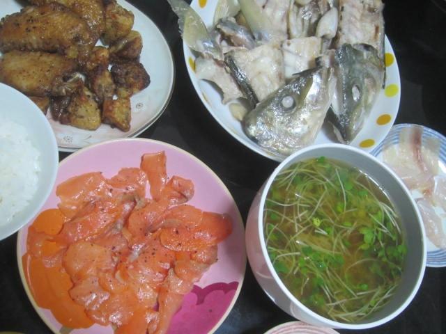 IMG 0048 - シマアジのアラを塩焼きにしたのがすっげー美味しかった
