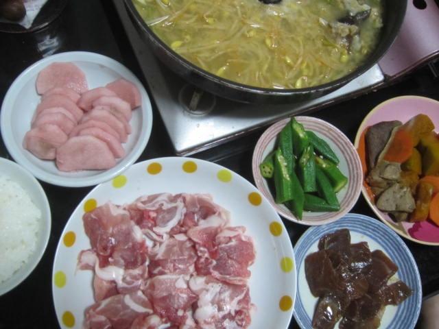 IMG 0220 - 長芋の梅酢漬けをあんこう鍋の残り汁で火を通した豚しゃぶ肉で巻いてもぐもぐ