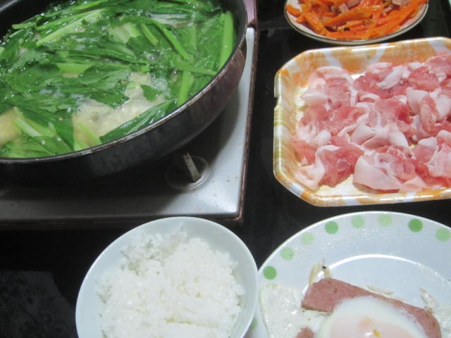 IMG 0011 - 豚しゃぶ鍋でSPAMのあれこれを中和する感じの晩飯
