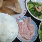 IMG 0026 150x150 - エビとブロッコリーの炒め物に手羽先ダイコン