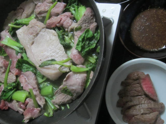 IMG 0030 1 - 黒毛和牛のランプステーキと美瑛豚のトンテキ