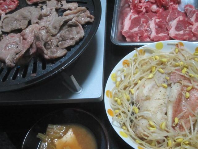 IMG 0034 - 赤魚=アコウダイ=メヌケのモヤシ蒸しとラム肉な焼肉