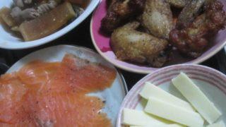 IMG 0086 1 320x180 - 手羽先とチーズとスモークサーモンにモツ煮込み
