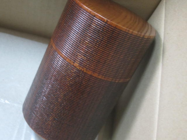 IMG 0107 - 木製な漆器の茶筒を購入したので使う前の手入れ開始