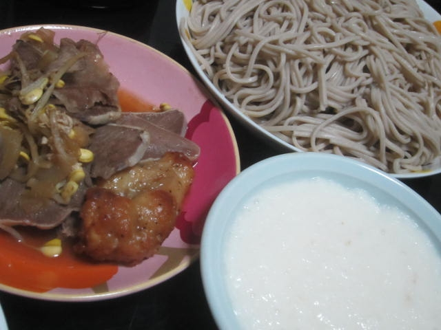 IMG 0117 - 韃靼そばに続いて今回は新得そばを土付長芋なとろろ蕎麦で