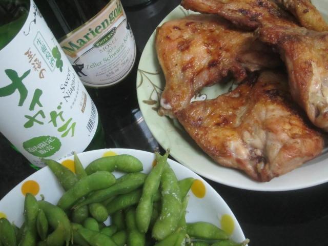 IMG 0007 - 至福のナイヤガラな白ワインと枝豆とチキンな宅飲み酒盛り