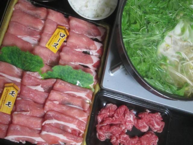 IMG 0018 - 白老和牛と豚肉のロースとモモの食べ比べしゃぶしゃぶ