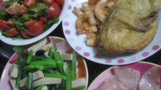 IMG 0030 1 320x180 - 鶏の半身揚げとトマトたっぷりサラダにいつものブリ刺し