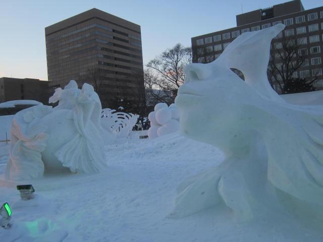 IMG 0032 - さっぽろ雪祭り2019 / ミクが大雪像のところに進出してました