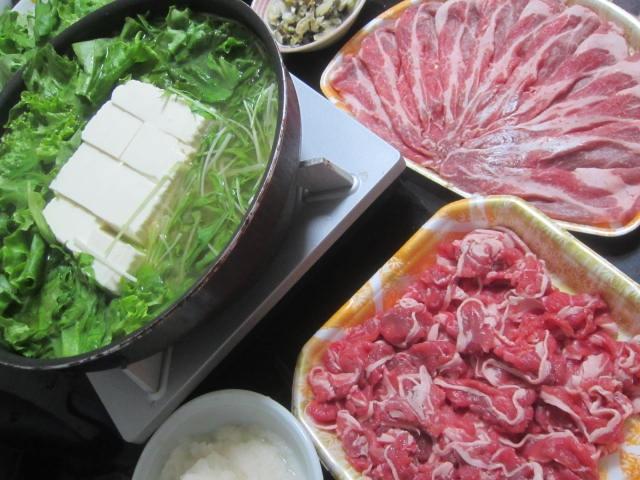 IMG 0042 - 豆腐と水菜とレタスの鍋で豚しゃぶしてたっぷりの大根おろしで