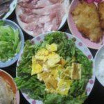 IMG 0052 150x150 - タコ頭とアジの開きとブリの刺身と春のお野菜