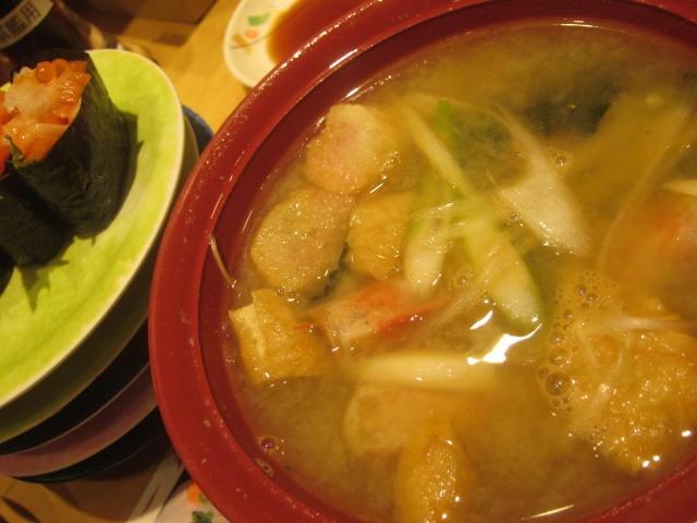 IMG 0055 - 根室花まるで桜鱒のお寿司やボタン海老頭の味噌汁