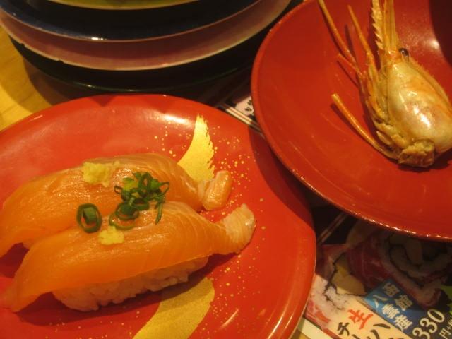 IMG 0057 - 根室花まるで桜鱒のお寿司やボタン海老頭の味噌汁