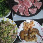 IMG 0065 150x150 - ラム肉と豚ヒレ肉で焼肉にしつつ手羽先やらエビ揚げの酒盛りメニュー